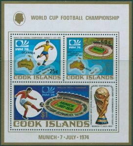 Cook Islands 1974 FOOTBALL WORLD CUP MUNICH Sheet Perforated Mint (NH)