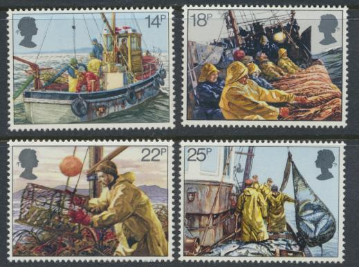 GB SG 1166 - 1169  SC# 956-959 Mint Never Hinged - Fishing Industry