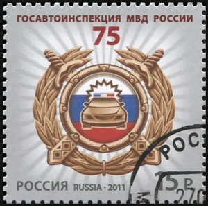 Russia. 2011. Traffic police of Russia (CTO) Stamp