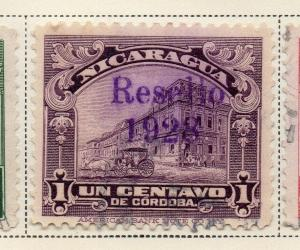 Nicaragua 1928 Early Issue Fine Used 1c. Optd 323655
