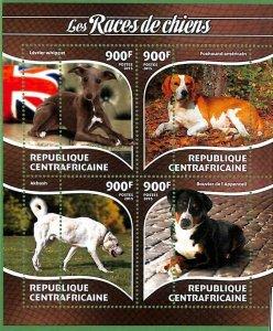 A3625-CENTRAL AFRICAN REPUBLIC ERROR MISSPERF 2015  DOGS СОБАКИ