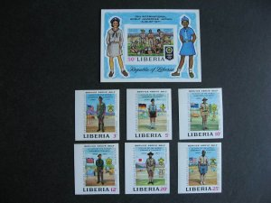 Liberia Scouts, Scouting imperf MNH Sc 563-8, C188 check them out!