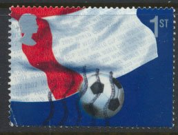 GB Used  from SG MS 2292 SC# 2056d World Cup Football  Bottom Right Quarter o...