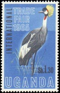 Uganda  #95-96, Complete Set(2), 1965, Birds, Never Hinged