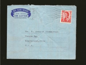 Hong Kong 210 on PM 1969 Airmail Cover to USA Used