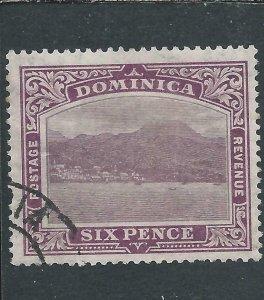 DOMINICA 1921-22 6d PURPLE FU SG 67 CAT £48