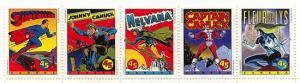 Canada #1583a Mint Horiz. Strip of Five VF-NH 1995 Comic Book Super Heroes