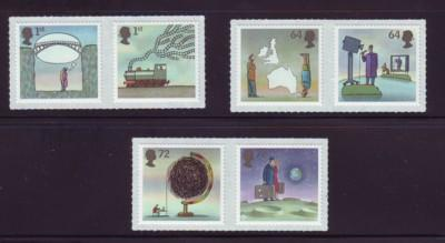 Great Britain Sc 2450-5 2007 World of Invention stamp set mint NH