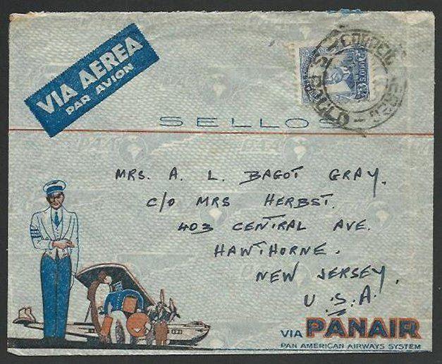 BRAZIL 1935 PANAIR airmail cover Sao Paulo to USA..........................59268