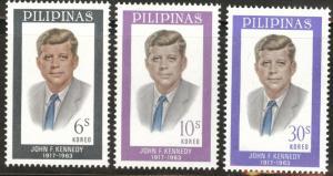 Philippines Scott 925-7 MH* Kennedy set 1963