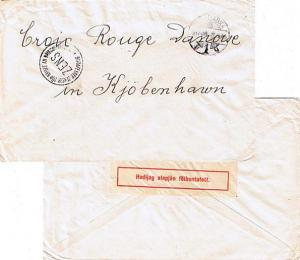 Hungary P.O.W. Free Mail 1917 Szabadka, 1 to International Red Cross Copenhag...