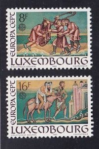 Luxembourg  #689-690 MNH  1983  Europa parabel of the Good Samaritan  complete
