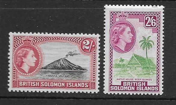 Solomon Island 101-2 MNH f-vf. see desc. 2019 CV $21.00