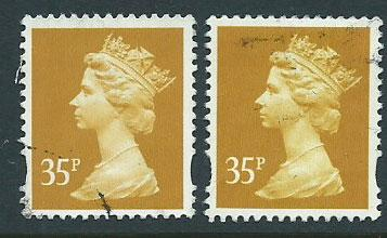 Great Britain - QE II Machin SG Y1698 & SG Y1778