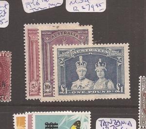 Australia 1948 Thin Rough Paper SG 1769-89 MOG (6ccq)