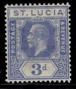 ST. LUCIA GV SG99a, 3d dull blue, LH MINT.