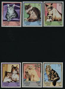 Laos 493-8 MNH Domestic Cats