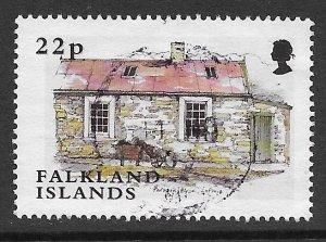 JL I11 FALKLAND ISLAND, 2003 SC 825 22p BIRDS HOUSE, USED