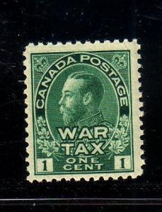 Canada Sc MR1 1915 1c grn G V War Tax stamp mint