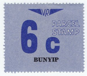 (I.B) Australia - Victoria Railways : Parcels Stamp 6c (Bunyip)