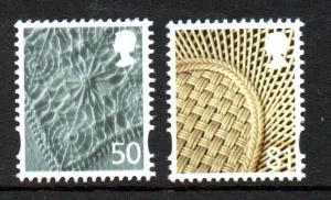 Great Britain Northern Ireland 28-9 2008 50p linen 81 p china set mint NH