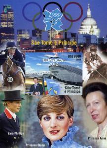 Sao Tome & Principe London Olympics 2012 Princess Diana Imperforated mnh.vf #2