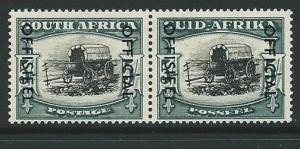 SOUTH AFRICA SGO49 1951 5/= BLACK & BLUE GREEN MTD MINT