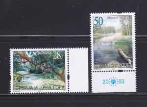 Serbia & Montenegro 192-193 Set MNH Nature Protection