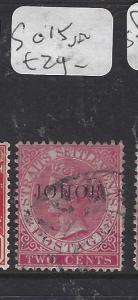 MALAYA JOHORE (P0211B)  QV  2C  SG 15A   VFU