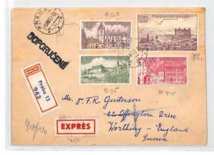 BU89 1955 Czechoslovakia Prague Airmail Cover PTS