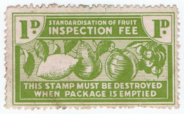 (I.B-CK) New Zealand Revenue : Fruit Inspection 1d