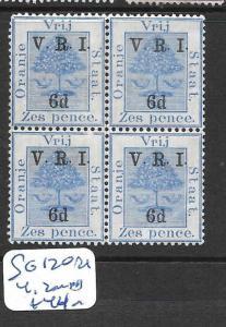 ORANGE FREE STATE  (P3005B)  TREE VRI   6D/6D  SG 120 BL OF 4,  2  MNH