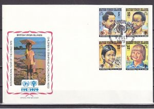 Virgin Is., Scott cat. 356-359. Int`l Year of the Child. First day cover. ^