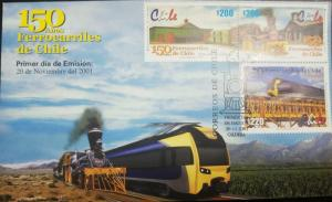 RC) 2001 CHILE. RAILROADS IN CHILE - TRAIN ON BRIDGE, FDC XF