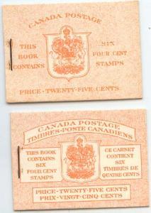Canada - 1953 4c Pane in English & Bilingual Booklets #BK45