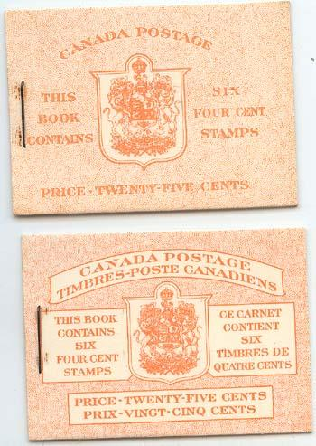 Canada - 1953 4c Pane in English & Bilingual Booklets #BK45