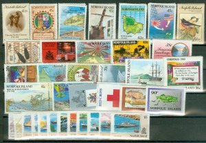 EDW1949SELL : NORFOLK Beautiful collection of ALL DIFF VF MNH CPLT SETS Cat $185
