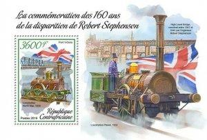 HERRICKSTAMP NEW ISSUES CENTRAL AFRICA Robert Stephenson S/S