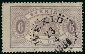 Sweden SC O16a Used Fine SCV $65.00... Great Value!