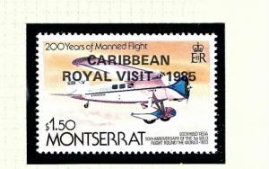 Montserrat 577 MNH 1985 issue overprinted for Royal Visit