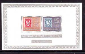 Norway Sc 585a 1972 post horn anniversary stamp sheet min...