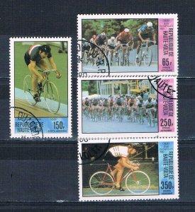 Burkina Faso C258-61 Used set Bicycling 1980 (HV0114)+