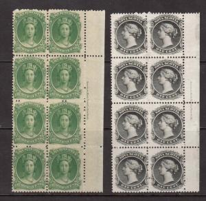 Nova Scotia #8 & #11 VF/NH Plate Block Of Eight Duo