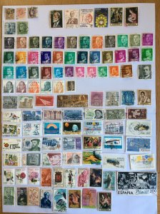 Spain 100+ stamps - Lot F