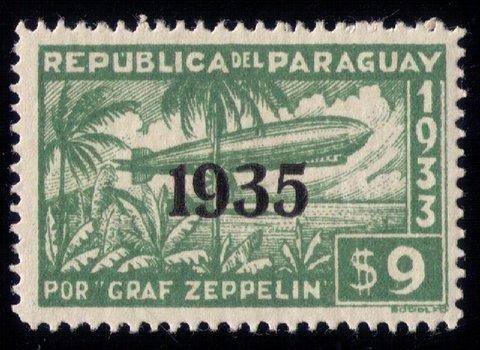 PARAGUAY #C94  AIIRSHIP GRAF ZEPPELIN MNH,OG OVERPRINTED 1935 VF/XF