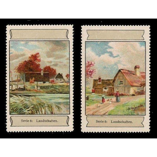 Germany - Landscape Paintings Poster Stamps