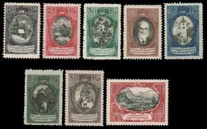 Liechtenstein 1921 SCENIC GROUP MINT #62-69 incl. 8 stamps LH CV$280.50 [68621]