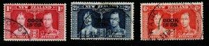 COOK ISLANDS SG124/6 1937 CORONATION FINE USED