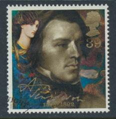 Great Britain  SG 1610 SC# 1444 Used / FU with First Day Cancel - Tennyson