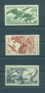 French Guiana sc# C18-20 mnh cat value $48.00